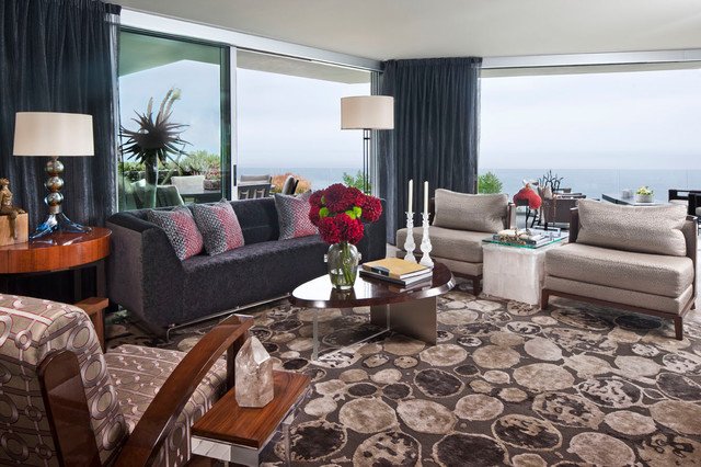 Modern Home with a View eclectic-living-room