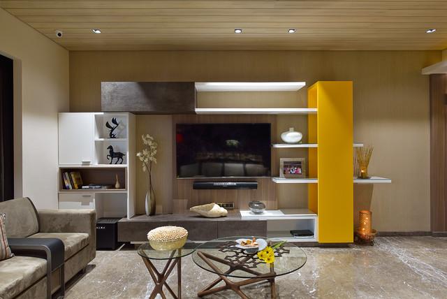 Modern Indian Apartment Contemporary Living Room Mumbai By Fsnd