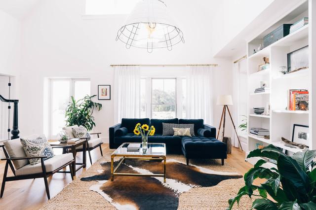 inspiring industrial farmhouse living room | Modern Industrial Farmhouse - Farmhouse - Living Room ...