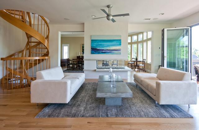 Modern Island Beach Home Living Room Tropical Living