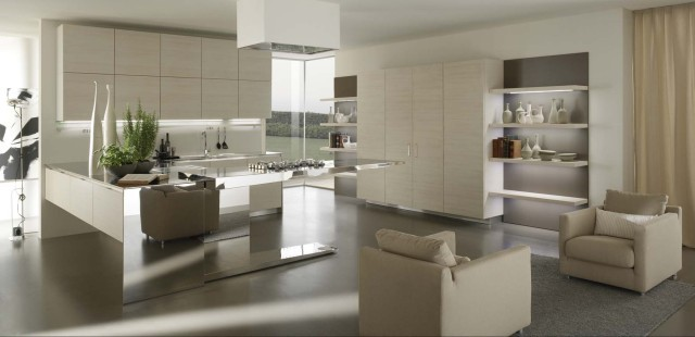 Modern Kitchen Contemporary Living Room Los Angeles By Euro Interior