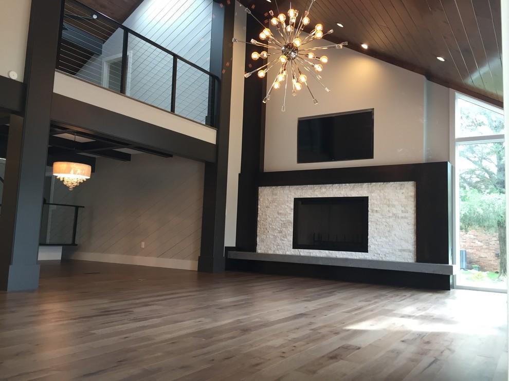 Inspiration for a huge transitional living room remodel in Other