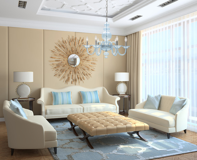 Good Modern Light Blue Translucent Glass Chandelier Modern Living Room
