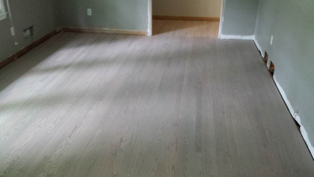 Modern Light Grey Wood Flooring Living Room Nashville