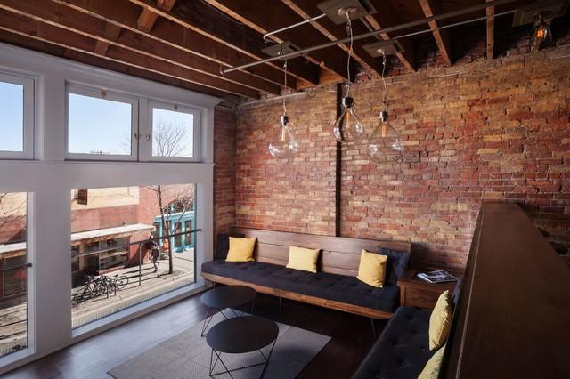 Modern living downtown flagstaff midcentury living room