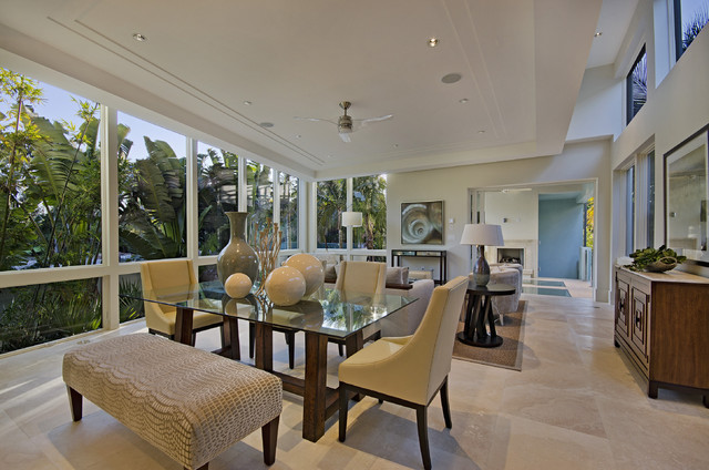 Modern Living In Naples Florida Contemporary Room