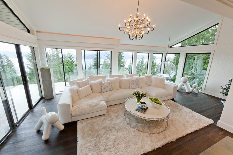 Cove Lighting, White Sectional Living Room Ideas