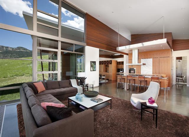 River Residence modern-living-room