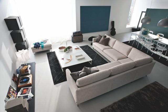 Carmel modern living room for Houzz modern living room furniture