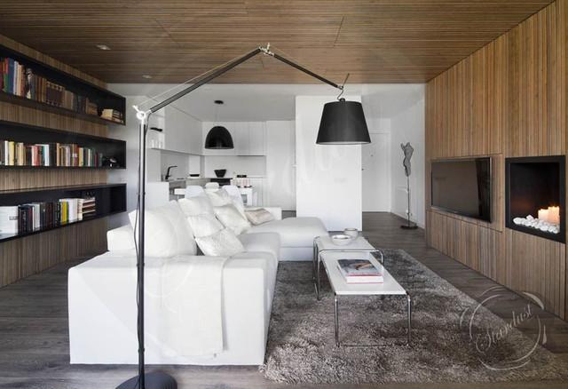 Modern Living Room Design With Artemide Tolomeo Mega Floor