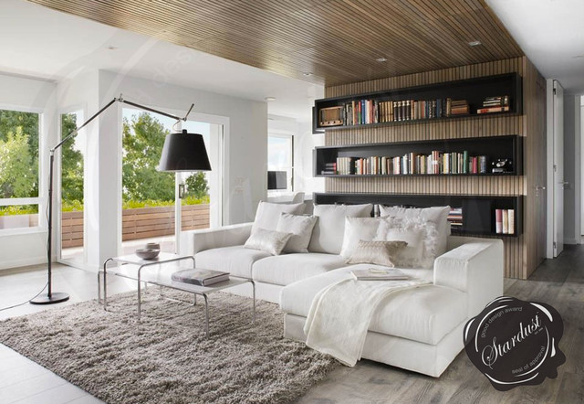 Modern Living Room Design With Artemide Tolomeo Mega Floor Lamp Modern  Living Room