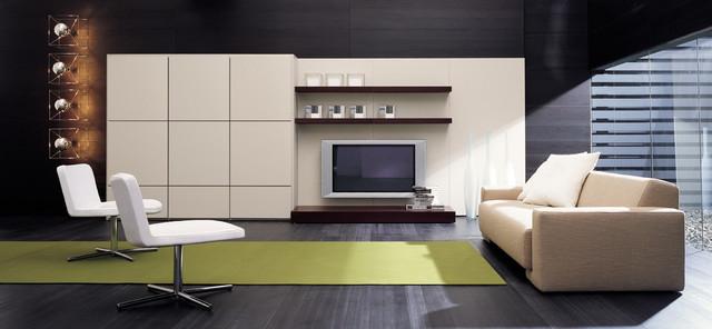 Modern Italian Living Room Cabinets - Modern - Living Room - San ...