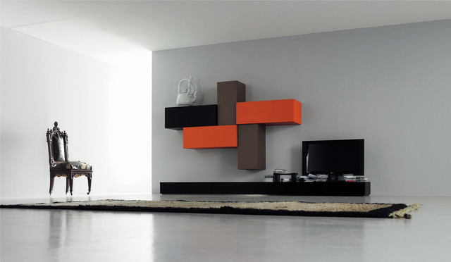 Modern Italian Living Room Cabinets Modern Living Room San