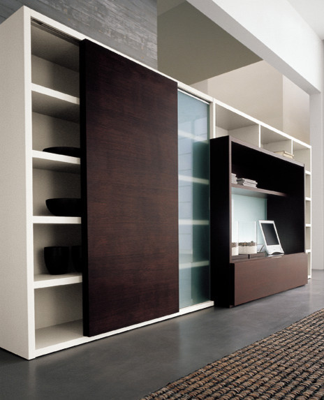 Living Area Cabinet Design: Modern Italian Living Room Cabinets