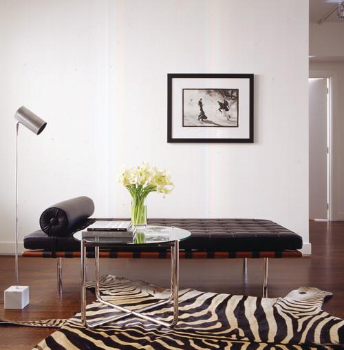 mies van der rohe divan en negro Michael Kors Penthouse Apartment