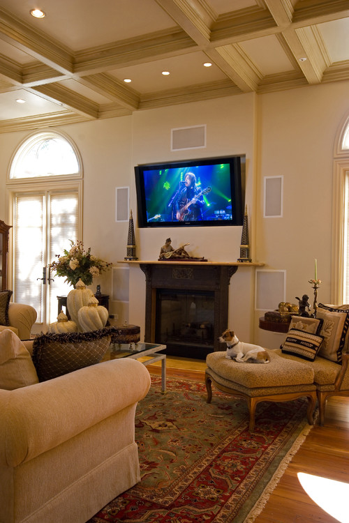 is a tv above fireplace too high to watch comfortably