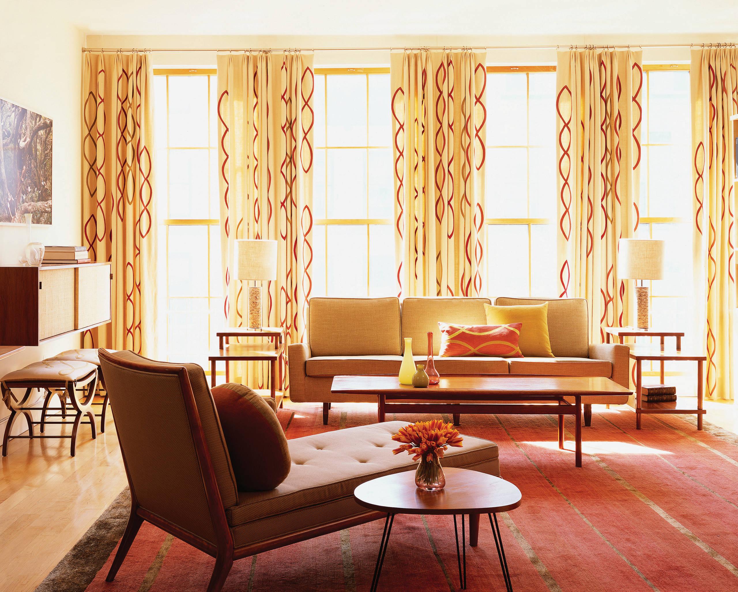 Image of: Mid Century Modern Curtains Houzz