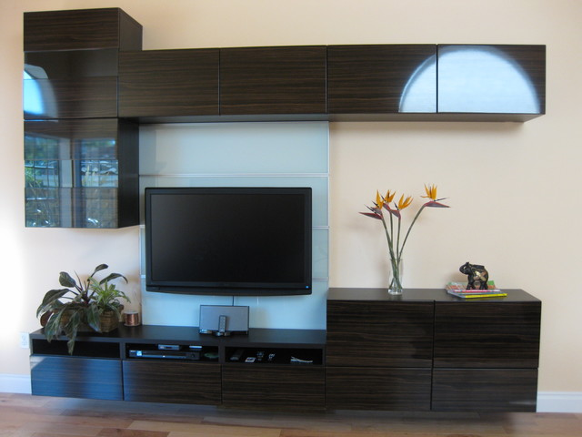 My New Floating Wall Unit Modern Living Room Los Angeles on ikea tv rooms