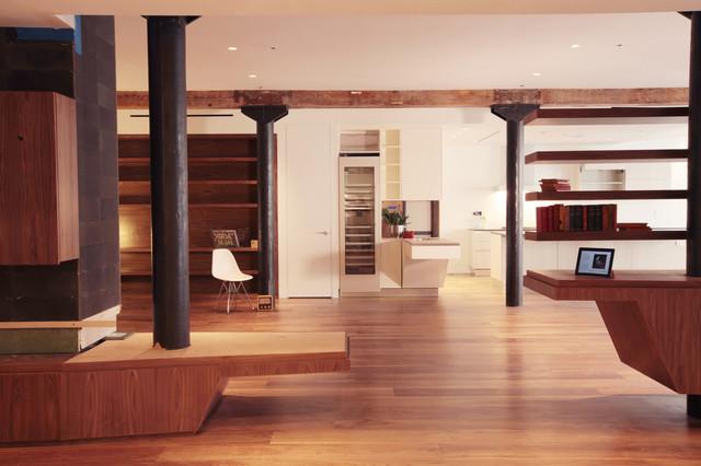 Tribeca Loft modern-living-room