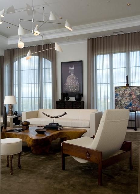 High Rise Residence Modern Living Room Atlanta By