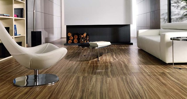 Porcelanosa Tavola Zebrano floor tiles - Modern - Living Room ...