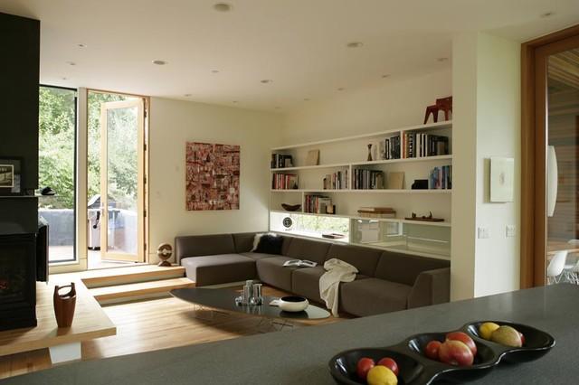 Hoke Residence modern-living-room