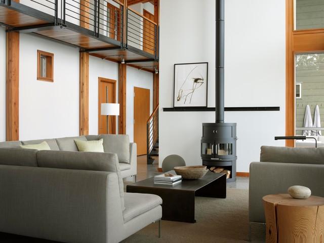 Idaho Lake House modern-living-room