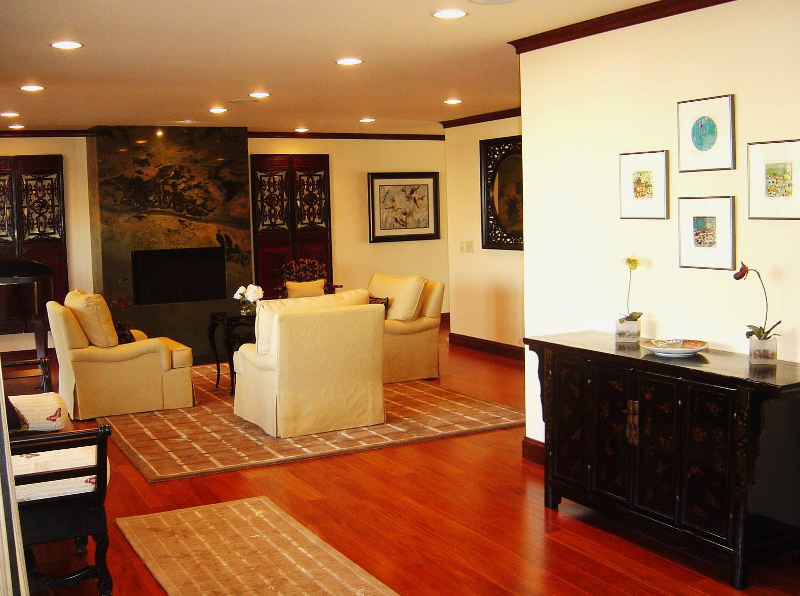 Modern living room with Asian Accents - another view