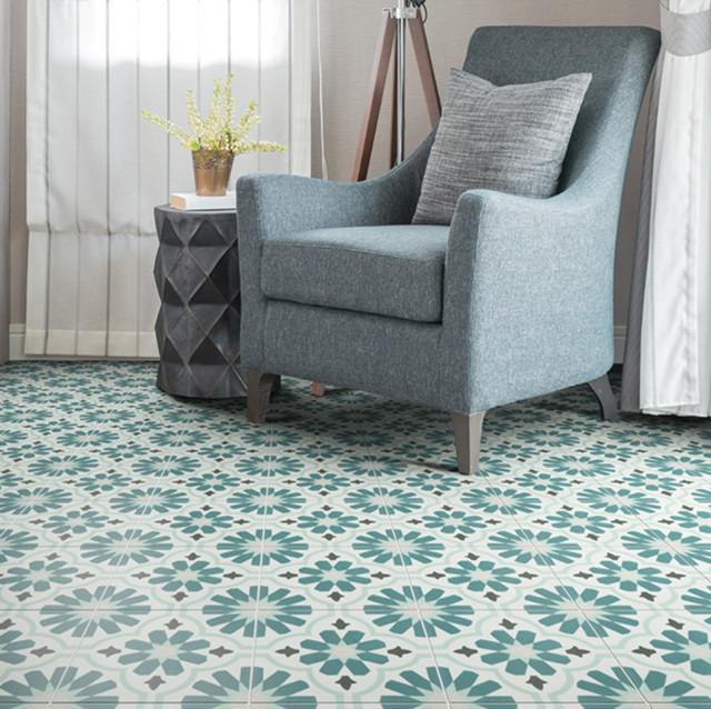 Modern Living Room With Spanish Inspired Tiles Mediterranean Living Room West Midlands