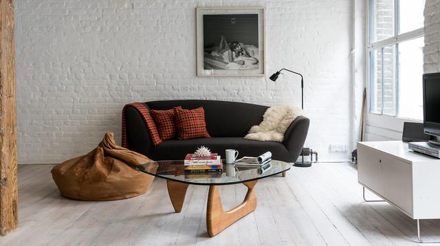 Modern Loft Apartment In Shoreditch Industrial Living Room