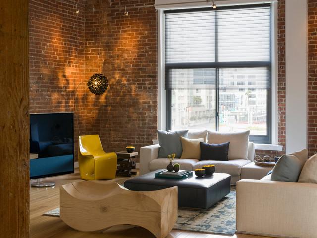 Modern Loft Warehouse Living Room Modern Living Room