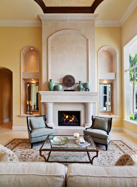 Modern Mediterranean Mediterranean Living Room Miami by JMA