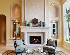 Modern Mediterranean mediterranean-living-room