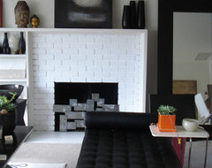 modern metal fire place cover modern living room