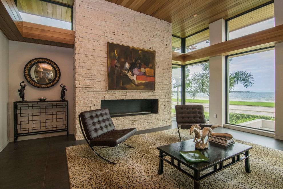 Modern Midcentury Modern Living Room Tampa By