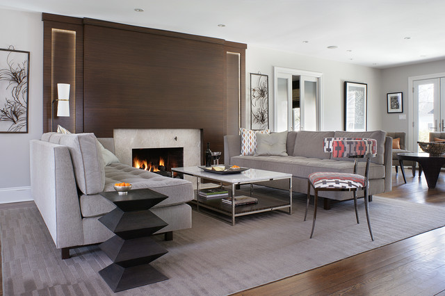 Modern minimalist home - contemporary - living room - new york ...