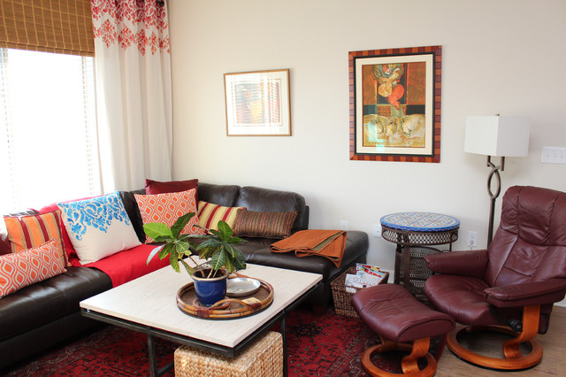 Modern Moroccan Living Room After Transitional Living Room Dallas By Joan Chamberlain
