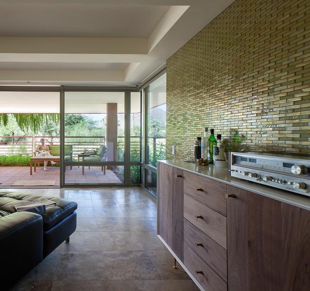 Modern mosaic feature wall - Modern - Living Room - phoenix - by ...