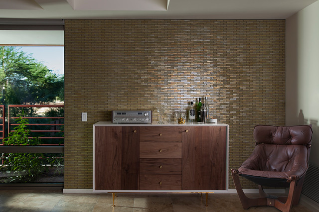 modern mosaic feature wall contemporary living room