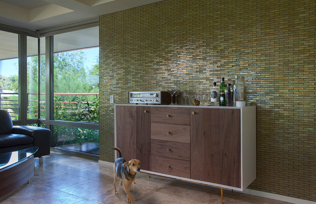Modern Mosaic Feature Wall Contemporary Living Room Part 35