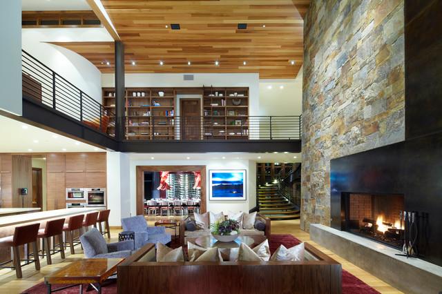 Modern Mountain Chalet Cozy Interiors Contemporary
