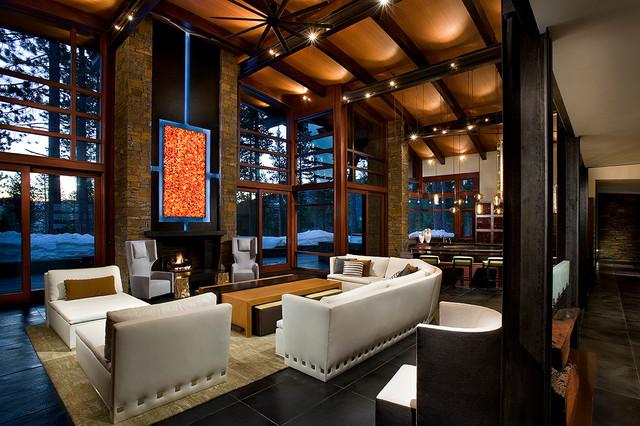 Modern mountain style martis camp contemporary for Modern mountain home interior design