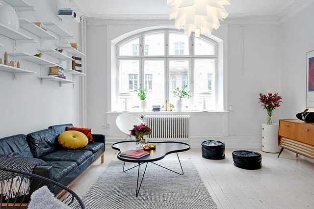 Modern nyc apartment style living room design idea with norm 69 modern nyc apartment style living room design idea with norm 69 pendant light contemporary living aloadofball Images