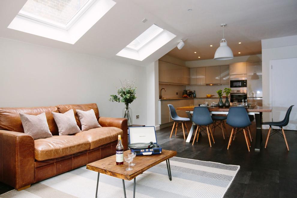 Modern Open Plan Kitchen Living Dining Room London By My Bespoke Houzz