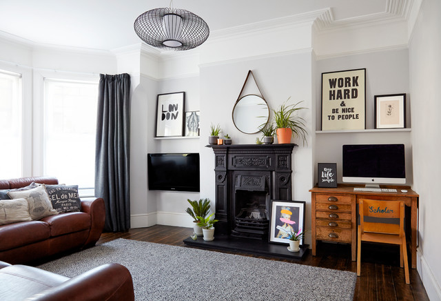 Modern period living traditional living room london - Traditional contemporary living room ...