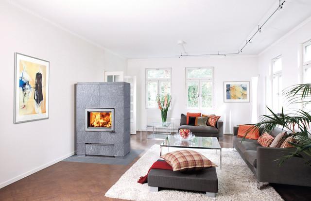 Modern Power Heaters Scandinavian Living Room South West By Tulikivi UK