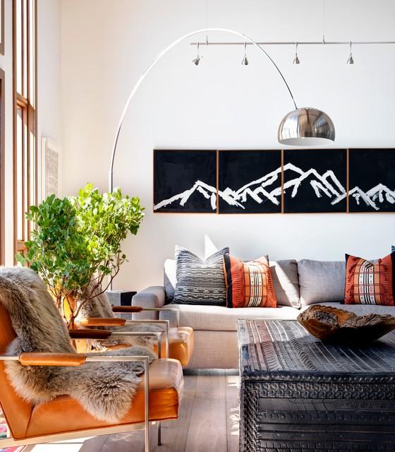 Modern Rustic Living Room: Modern Ranch