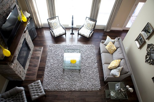 Transitional Living Room by Edwardsville Interior Designers & Decorators Ginger Huff Interiors
