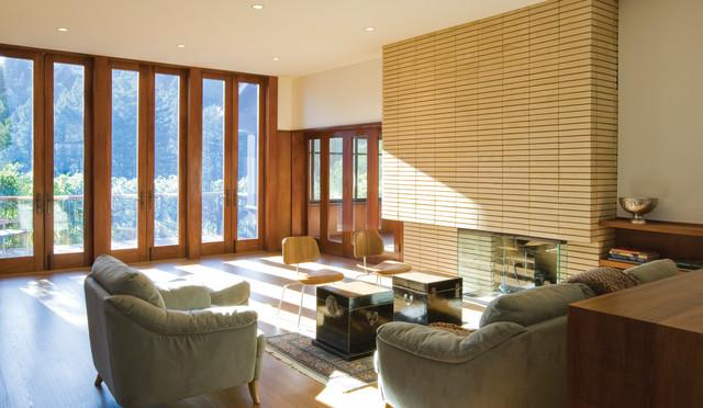 Modern Remodel to a 1911 Craftsman Residence modern-living-room