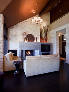 Modern Residence Contemporary Living Room Kansas